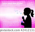 little girl blowing soap bubbles 42412131