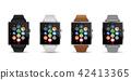 스마트 시계 시계 4 색의 벡터 일러스트 흰색 배경 42413365
