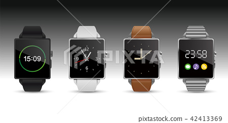 智能手錶手錶4顏色矢量圖 42413369
