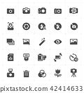 Icon set - camera and photograph filled icon style 42414633