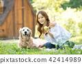 개, 강아지, 여성 42414989