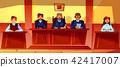 Judges at court hearing vector illustration 42417007