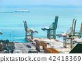 sea,cranes,port 42418369