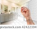 Hand Drawing Custom Master Bathroom with Photo Gradation 42422394