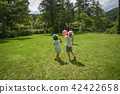 Parents playing balls in the park 42422658