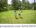 Parents playing balls in the park 42422659