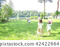 Parents playing balls in the park 42422664