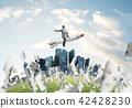 Business success and targets achievement concept. 42428230
