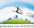 Business success and targets achievement concept. 42429120