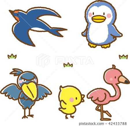 Animal material set 2 (bird) 42433788