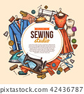Sewing studio sketch poster for tailor shop 42436787