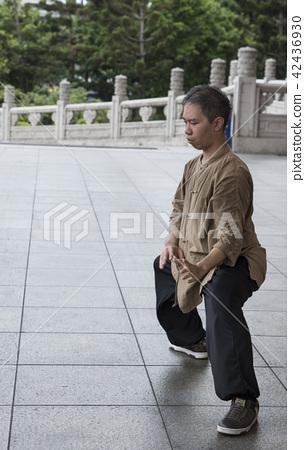 Martial artist practicing Tai Chi 42436930