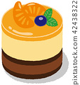 mousse, sweet, snack 42438322