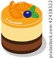 Orange mousse 42438322