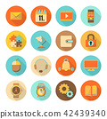 set of flat colorful icons 42439340