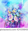 Abstract floral oil color painting. 42439848