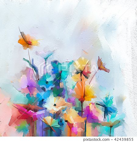 Flowers oil painting on canvas 42439855