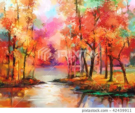 Autumn, Fall season nature background 42439911
