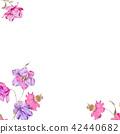 水彩红色花卉 42440682