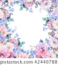 水彩 花卉 背景 42440788