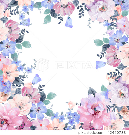 水彩玫瑰花卉 42440788