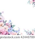 水彩玫瑰花卉 42440789