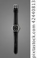 Wrist watch isolated on dark grey background 42440813