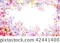水彩 花卉 背景 42441400