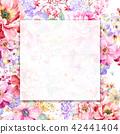 红色水彩玫瑰花卉组合 42441404