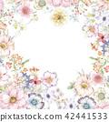 水彩玫瑰花卉组合 42441533