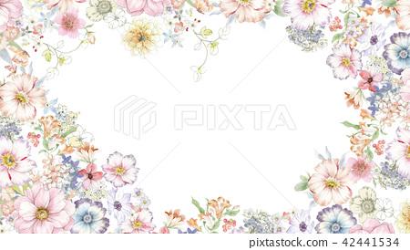 수채화 장미 꽃 조합 42441534