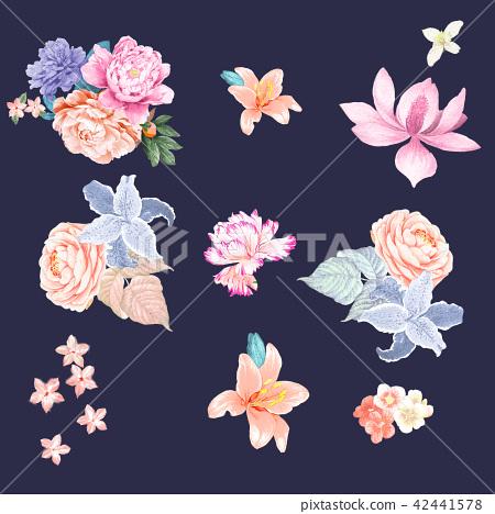 鮮豔的水彩玫瑰 42441578
