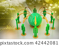 Concept of global business network 42442081