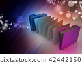 office folder with documents 42442150