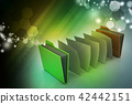 office folder with documents 42442151