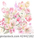 水彩 花卉 背景 42442162