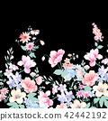 水彩手绘玫瑰花卉集合 42442192
