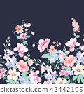 수채화 손으로 그려진 장미 꽃 컬렉션 42442195