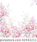 水彩 花卉 背景 42442211