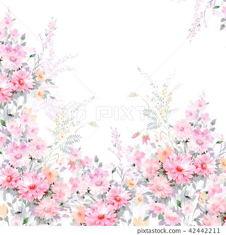 水彩手绘玫瑰花卉集合 42442211