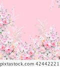 水彩手绘玫瑰花卉集合 42442221