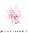 水彩手绘玫瑰花卉集合 42442222