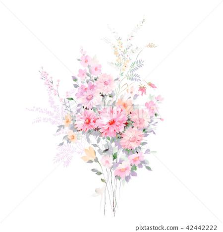 水彩手繪玫瑰花卉集合 42442222