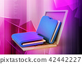 Laptop with files 42442227