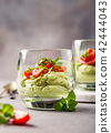 Fresh green avocado mousse 42444043