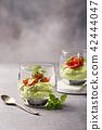 Fresh guacamole sauce 42444047