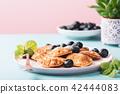 Dutch mini pancakes 42444083