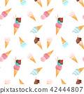 ice cream pattern 42444807