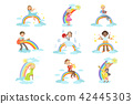Kids Playing Music Instruments With Rainbow And Clouds Decoration 42445303