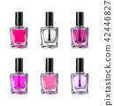Nail polish bottles on white background vector illustration 42446827